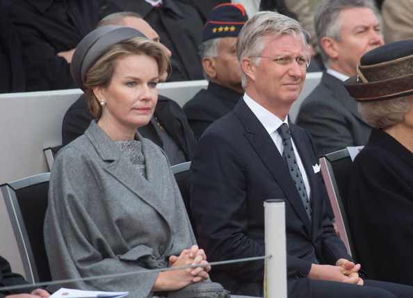 Queen Mathilde and King Philippe of Belgium attend the Commemoration of 100th Anniversary of WWI marking one hundred years since the start of the first World War on October 28, 2014 in Nieuwpoort, Belgium.