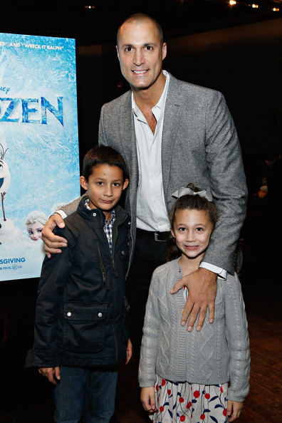 "The Cinema Society Hosts A Special Screening Of Walt Disney Animation Studios' ""Frozen"" At The Tribeca Grand Hotel In New York [frozen,event,fashion,premiere,child,suit,performance,nigel barker,children,photographer,jack barker,jasmine barker,tribeca grand hotel,new york,cinema society hosts a special screening of walt disney animation studios,screening]"