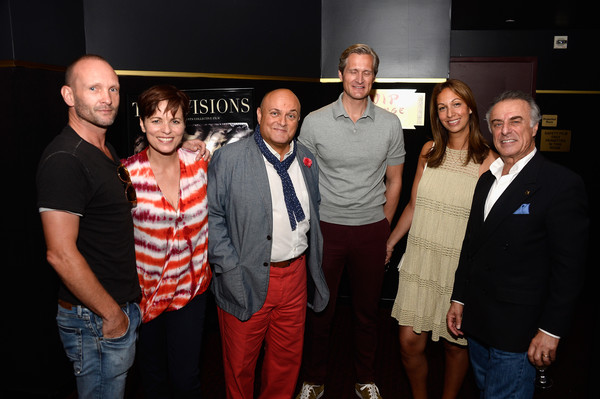 Guests Attend a Private Screening Of 'Twin Visions' [event,team,fun,performance,night,party,louise salter,andrew howard,nigel daly,producers,annick knutsen,john knutsen,twin visions,l-r,obe,screening]