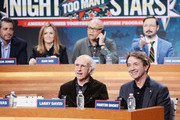 (L-R)  Jason Jones, Samantha Bee, Larry David, Larry Wilmore, Martin Short, and John Hodgman attend The Night Of Too Many Start Live Telethon on March 8, 2015 in New York City.