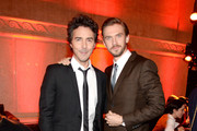"Director Shawn Levy (L) and actor  Dan Stevens attend the ""Night At The Museum: Secret Of The Tomb"" New York Premiere after party at the American Museum of Natural History on December 11, 2014 in New York City."