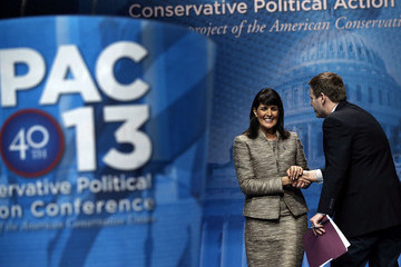 Nikki Haley Guy Benson Leading Conservatives Attend 40th Annual CPAC