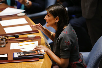 Nikki Haley United Nations Security Council Gets Briefed On Russian Poisoning Case