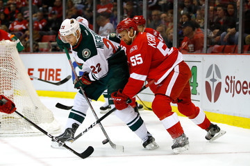 Niklas Kronwall Minnesota Wild v Detroit Red Wings