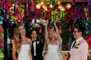 "Nina Agdal, Sara Foster, Erin Foster and Dj Quintero celebrate ""Knot-A-Real-Wedding"" in honor of Conair's The Knot Dr. Detangling Brush in New York City."