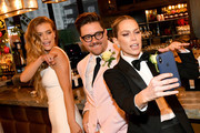 "Nina Agdal, Dj Quintero and Sara Foster celebrate ""Knot-A-Real-Wedding"" in honor of Conair's The Knot Dr. Detangling Brush in New York City."