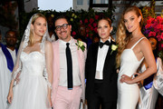 """Erin Foster, Dj Quintero, Sara Foster and Nina Agdal celebrate """"Knot-A-Real-Wedding"""" in honor of Conair's The Knot Dr. Detangling Brush in New York City."""