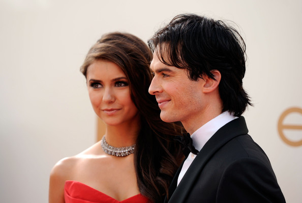 Nina Dobrev Actres Nina Dobrev (L) and actor Ian Somerhalder arrive at the 63rd Annual Primetime Emmy Awards held at Nokia Theatre L.A. LIVE on September 18, 2011 in Los Angeles, California.