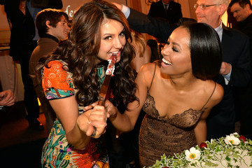 Nina Dobrev Kat Graham The Vampire Diaries 100th Episode Celebration - Inside