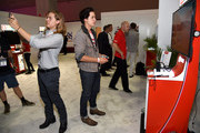 Dylan Sprouse and Cole Sprouse visit the Nintendo booth at the 2017 E3 Gaming Convention at Los Angeles Convention Center on June 13, 2017 in Los Angeles, California.
