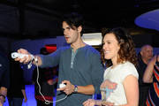 Jayson Blair and Rumer Willis attend the Nintendo Hosts Wii U Experience In Los Angeles on September 20, 2012 in Los Angeles, California.