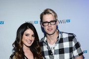 Shenae Grimes and Chord Overstreet arrive at the Nintendo Hosts Wii U Experience In Los Angeles on September 20, 2012 in Los Angeles, California.