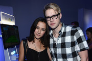 Zelda Williams and Chord Overstreet attend the Nintendo Hosts Wii U Experience In Los Angeles on September 20, 2012 in Los Angeles, California.