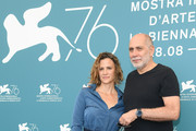 Isabel Aerenlund  and director Guillermo Arriaga attends 'No One Left Behind' photocall during the 76th Venice Film Festival at Sala Grande on August 30, 2019 in Venice, Italy.