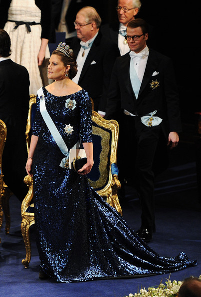 Crown Princess Victoria of Sweden attends the Nobel Prize Award Ceremony at Stockholm Concert Hall on December 10, 2011 in Stockholm, Sweden.
