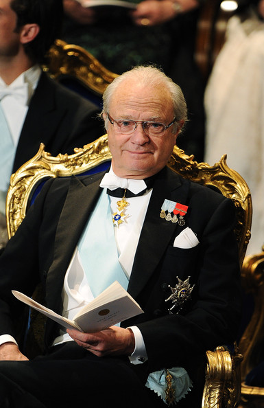 King Carl XVI Gustaf of Sweden attends the Nobel Prize Award Ceremony at Stockholm Concert Hall on December 10, 2011 in Stockholm, Sweden.