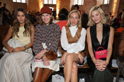 Annette Weber, Mandy Bork and guests attend the Nobi Talai fashion show during the Berlin Fashion Week Spring/Summer 2020 at Parochialkirche on July 04, 2019 in Berlin, Germany.