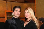 Edgar Vaudeville and actress Meredith Ostrom attend Nobu Hotel Miami Beach launch VIP cocktail at Nobu Next Door on November 7, 2016 in New York City.