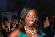 TV personality Delaina Dixon attends the Nolcha Fashion Week New York Spring Collections 2015 during NY Fashion Week at Eyebeam 540 West 21st Street on September 9, 2014 in New York City.