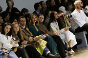 James Aguiar, Jamie Chung, Bel Powley and Raveena Aurora attend the Noon By Noor Front Row during New York Fashion Week: The Shows at Gallery II at Spring Studios on February 11, 2020 in New York City.