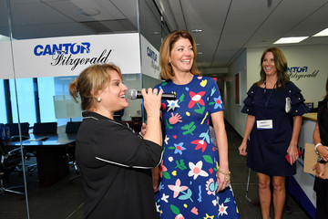 Norah O'Donnell Annual Charity Day Hosted By Cantor Fitzgerald, BGC and GFI - Cantor Fitzgerald Office - Inside