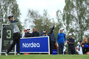 Thomas Aiken of South Africa tees off on the 3rd hole during day four of the Nordea Masters at Hills Golf Club on August 19, 2018 in Gothenburg, Sweden.