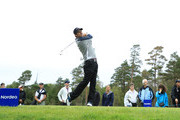 Thomas Aiken of South Africa tees off on the 6th hole during day four of the Nordea Masters at Hills Golf Club on August 19, 2018 in Gothenburg, Sweden.