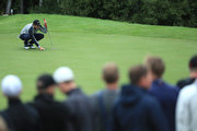 .Thomas Aiken of South Africa lines up a putt on the 16th green during day three of the Nordea Masters at Hills Golf Club on August 18, 2018 in Gothenburg, Sweden.