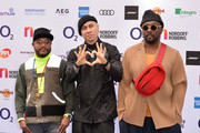 apl.de.ap, Taboo and will.i.am from The Black Eyed Peas attend the Nordoff Robbins O2 Silver Clef Awards 2019 at the Grosvenor House on July 05, 2019 in London, England.