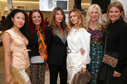 (L-R) Kim Shui, Patricia Field, Nina Garcia, Elizabeth Sulcer, Libby Edelman and Kristin Frossmo attend Nordstrom and ELLE Perfect Pairs Cocktail Party at Nordstrom NYC on November 07, 2019 in New York City.