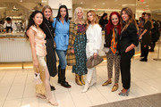 (L-R) Kim Shui, Kristin Frossmo, Lily Kwong, Libby Edelman, Elizabeth Sulcer, Patricia Field and Nina Garcia attend Nordstrom and ELLE Perfect Pairs Cocktail Party at Nordstrom NYC on November 07, 2019 in New York City.