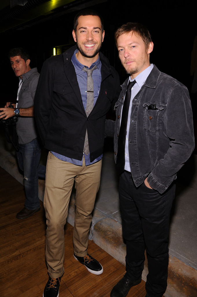 Norman Reedus Girlfriend http://www.zimbio.com/photos/Norman+Reedus/Levi+Fall+2012+Global+Collection+Presentation/mnv2XutL6cg