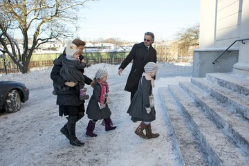 Emma Tallulah Behn Norwegian Royals Attend Funeral of Anne-Marie Solberg