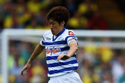 Ji Sung Park of Queens Park Rangers in action during the Barclays Premier League match between Norwich City and Queens Park Rangers at Carrow Road on August 25, 2012 in Norwich, England.