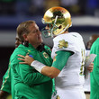 Brian Kelly and Tommy Rees Photos