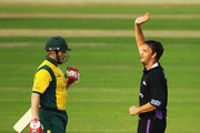 Albie Morkel of Durham celebrates bowling Ali Brown of Nottinghamshire during the Friends Provident T20 match between Nottinghamshire and Durham at Trent Bridge on June 25, 2010 in Nottingham, England.