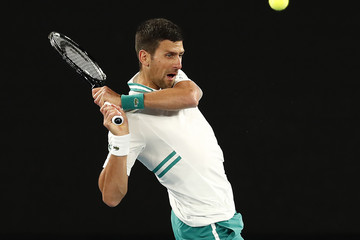 Novak Djokovic European Best Pictures Of The Day - February 15