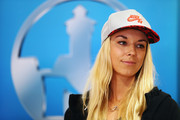 Sabine Lisicki of Germany looks on during the official draw ceremony on Day One of the Nuernberger Versicherungscup 2016 on May 14, 2016 in Nuremberg, Bavaria.