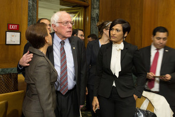 Nydia Velazquez Bernie Sanders Sens. Warren and Sanders Hold News Conference Calling for Increased Aid for Puerto Rico and U.S. Virgin Island