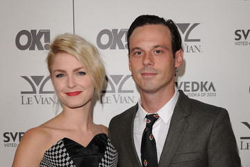 Whitney Able with cool, Husband Scoot McNairy