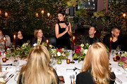 Julia Restoin Roitfeld speaks at THE OUTNET celebrates Julia Restoin Roitfeld for Iris & Ink launch dinner at The Waverly Inn on October 15, 2019 in New York City.