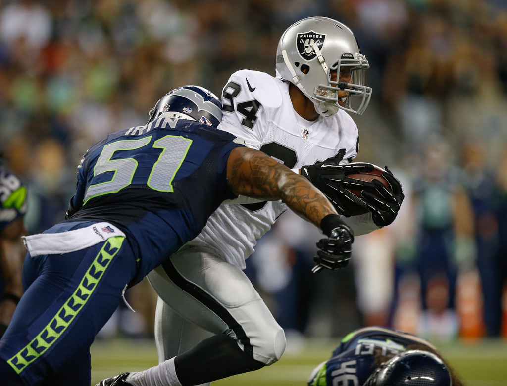 Bruce Irvin s s Oakland Raiders v Seattle Seahawks