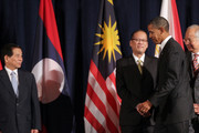 (AFP OUT) President Barack Obama (2ndR) attends a working luncheon with ASEAN leaders Vietnam President Nguyen Minh Triet (L), President of the Philippines Benigno Aquino III (2ndL) and Prime Minister of Malaysia Najib Razak September 24, 2010 in New York City. Obama has been in New York since Wednesday attending the annual General Assembly at the United Nations, where yesterday he stressed the need for a resolution between Israel and Palestine, and a renewed international effort to keep Iran from attaining nuclear weapons.
