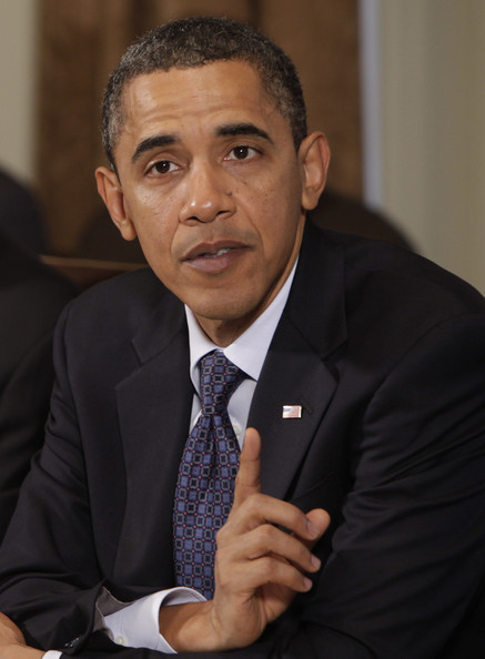 (AFP OUT) U.S. President Barack Obama speaks during a cabinet meeting at the White House on November 4, 2010 in Washington, DC. Obama has invited Republican leadership to the White House for a bipartisan meeting on November 18.