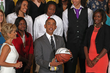 Kim Mulkey Obama Welcomes 2012 NCAA Women's Basketball Champions To White House