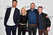 """(L-R) Marcus Rutherford, Sophie Kennedy Clark, Director Jamie Jones and Sam Gittins attend a screening of """"Obey"""" during the 2018 Tribeca Film Festival at Cinepolis Chelsea on April 22, 2018 in New York City."""
