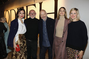 (L-R) Nadine Warmuth, Otto Droegsler, Joerg Ehrlich and Eva Padberg attend the Odeeh Defile during 'Der Berliner Salon' AW 18/19 on January 17, 2018 in Berlin, Germany.