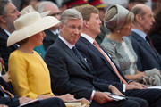 (L-R) Queen Mathilde of Belgium, King Philippe of Belgium, King Willem-Alexander of the Netherlands, Queen Maxima of the Netherlands and Britain's Prince Edward, Duke Of Kent, attend the Belgian federal government ceremony to commemorate the bicentenary of the Battle of Waterloo on June 18, 2015 in Waterloo, Belgium. The ceremony is at the start of three days of official events marking the 200th anniversary of the Battle of Waterloo during which around 5000 historical re-enactors from around the world will take part in events culminating in a re-enactment of the allied defeat of Napoleon's army on June 20th. The 1815 battle saw the overthrow of Napoleon Bonaparte and the restoration of Louis XVIII to the French throne.