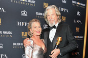 Susan Geston and Jeff Bridges, recipient of the Cecil B. DeMille Award, attend the official viewing and after party of The Golden Globe Awards hosted by The Hollywood Foreign Press Association at The Beverly Hilton Hotel on January 6, 2019 in Beverly Hills, California.