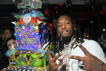 Offset Call Of Duty Birthday Cake At Offset's Set Gala
